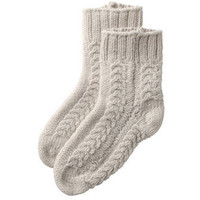 CABLE KNIT SHORT SOCKS ($50-100)