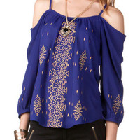 BELLEVUE EMBROIDERED BLOUSE