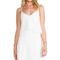 Dolce Vita Jeralyn Dress in White & Natural from REVOLVEclothing.com