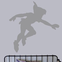Peter Pan Shadow vinyl decal - UK Seller