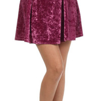 Teenage Dream Pink Velvet Skirt | Bloody-Fabulous
