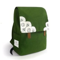 Sweet Candy Color Lace Backpack Canvas Flap Bag