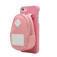 Candy Color Detachable Small Backpack Phone Shell Case for Iphone 4/4s