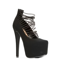 Black Multi-Strap Heel