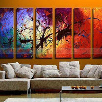LARGE 6 piece Modern Abstract Asian Art Oil Painting Wall Decor canvas NO frame