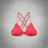 Cross-Back Triangle Swim Top