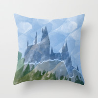 The Castle Throw Pillow Cover