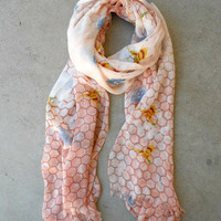 Pink Honeycomb Scarf [5079] - $10.00 : Vintage Inspired Clothing & Affordable Dresses, deloom | Modern. Vintage. Crafted.