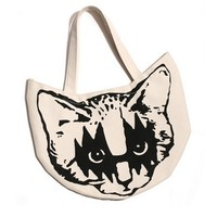 Retro Kitty Cat Small Tote Bag