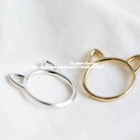 cat ring,kitty ring,Raccoon ring,animal ring, whimsical ring,animal jewelry,gift for your Valentine,teen ring,unisex ring,cute ring,R249N