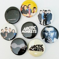 8 Piece Lot of Arctic Monkeys Pins Buttons Badges