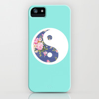 Yin Yang Floral iPhone & iPod Case by Kai Gee