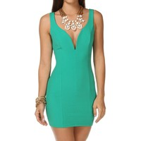 Pre-Order K. Green Plunging Neckline Short Dress