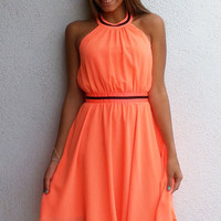 Breezy Halter Dress - Neon | ZOE Boutique