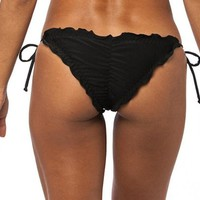 COQUETA Brazilian Bikini Scrunch Bottom Wavy Sexy Teeny Swimsuit BUMBUM BLACK