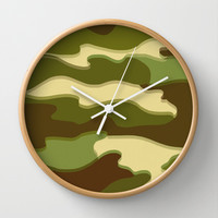 CAMO Wall Clock by Bruce Stanfield