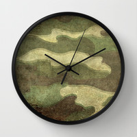 Dirty Camo Wall Clock by Bruce Stanfield