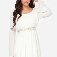 Hippie Go Lucky Ivory Lace Dress