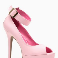 Shoe Republic LA Pink Peep Toe Corset Pumps @ Cicihot Heel Shoes online store sales:Stiletto Heel Shoes,High Heel Pumps,Womens High Heel Shoes,Prom Shoes,Summer Shoes,Spring Shoes,Spool Heel,Womens Dress Shoes