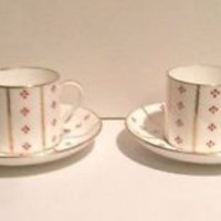 TIFFANY & CO Antique Demitasse Cups Saucers Hammersley