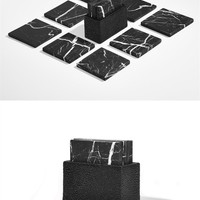 Black Coaster Set - Alexander Wang