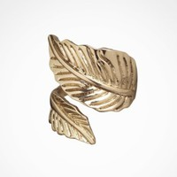 METAL LEAF WRAP RING