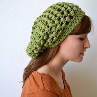Green Crocheted Hat