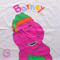 Vintage Barney The Dinosaur Pillowcase 1992
