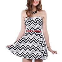 Papaya Clothing Online :: CHEVRON CUTOUT BELTED DRESS