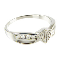 Bow Plain CTR Ring - Sterling Silver