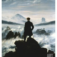 The Wanderer Above the Sea of Fog, c.1818 Print by Caspar David Friedrich at Art.com
