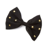 Studded Bow Hair Clip | Claire's
