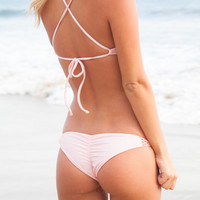 The Girl and The Water - Posh Pua 2014 - Pualei Crochet Bikini Bottom Plumeria - $68