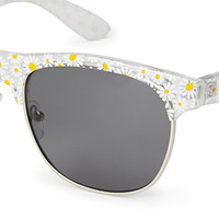 F3596 Daisy Rectangle Sunglasses