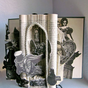 gothic Edgar allen Poe tales vintage altered pop up book