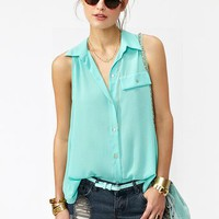 Button Up Tail Top in What's New at Nasty Gal