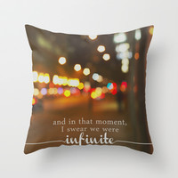 perks of being a wallflower - we were infinite Throw Pillow by lissalaine