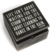 Primitives by Kathy 'Dance in the Rain' Box Sign | Nordstrom
