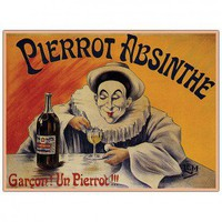 Trademark Global Pierrot Absinthe Garcon by LEM, Traditional Framed Canvas Art - 24&quot; x 18&quot; - V6019-C - Canvas Art - Wall Art &amp; Coverings - Decor