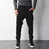 Ricky Dual Pocket Drop Crotch Fleece Jersey Pants - restock