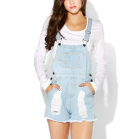 Papaya Clothing Online :: DESTROYED OVER-RALL ROMPER