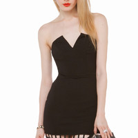 Cage Bottom Party Strapless Dress