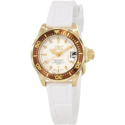 Invicta Women's 11564 Pro Diver Mini White Dial White Polyurethane Watch - designer shoes, handbags, jewelry, watches, and fashion accessories | endless.com