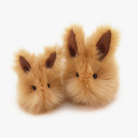 Honey Bunny Rabbit Stuffed Toy Plushie Animal - 4x5 Inches Small Size Easter Bunny