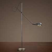 1900s Pharmacy Floor Lamp Aged Steel