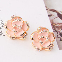 Flower flower earrings y