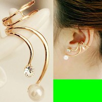 Phoenix Tail Ear Cuff (Single, No Piercing, Adjustable)