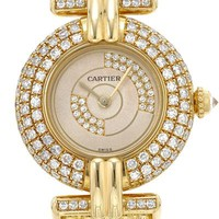 Must De Cartier 18KYG Rare Factory Diamond Bezel & Dial Women's Watch- Made in Switzerland, 8/10 Condition - 			        	Junior Girls and Boys Apparel & Accessories