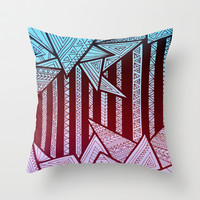India Throw Pillow by Erin Jordan