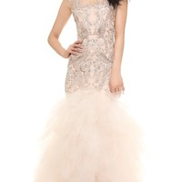 Marchesa Crystal Embroidered Gown